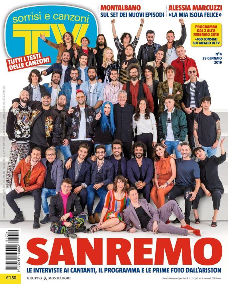 Sanremo 2019: tutti i testi su TV Sorrisi e Canzoni del 29 gennaio