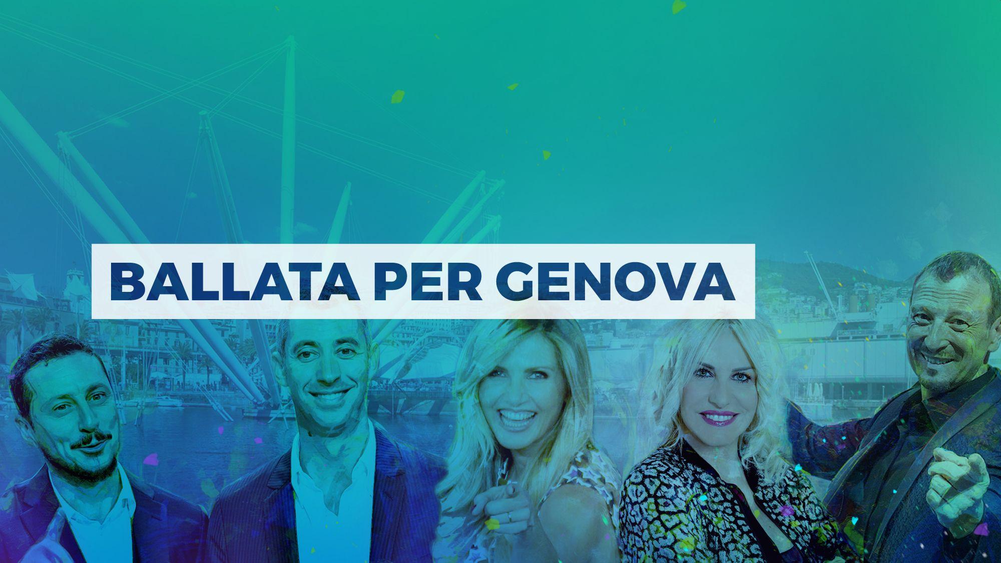 Ballata per Genova in streaming, diretta tv, dove vederlo, replica