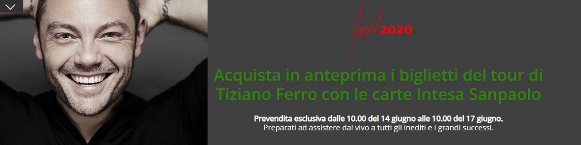 Tiziano Ferro: come acquistare i biglietti in anteprima con Intesa Sanpaolo
