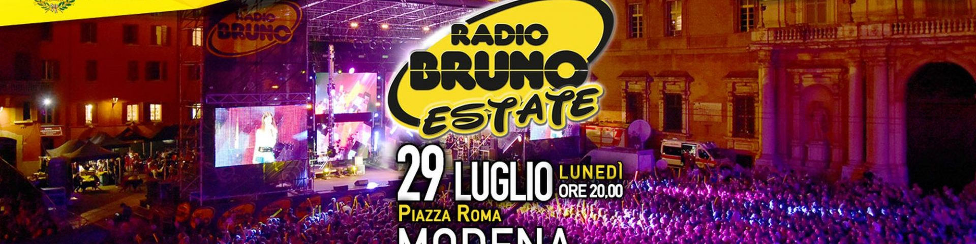 Radio Bruno Estate 2019 a Modena: scaletta e ordine di uscita