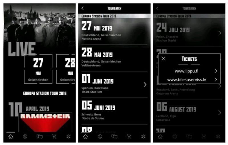 I Rammstein lanciano l'app gratuita per Android e iOS