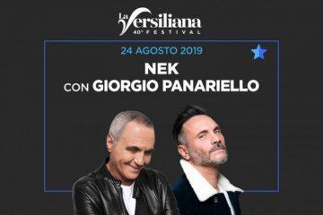 Concerto Nek e Giorgio Panariello a Marina Di Pietrasanta – 24 agosto 2019