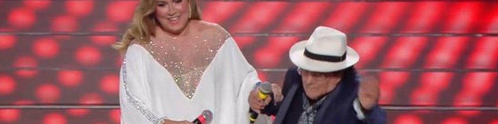 Al Bano inciampa a Sanremo 2020: video della gaffe
