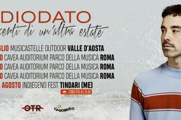 Diodato, il 4 luglio parte il tour estivo: tutte le date