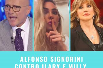 Alfonso Signorini contro Ilary Blasi e Milly Carlucci