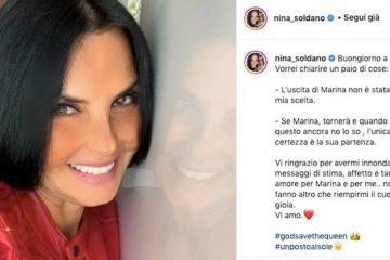 Perché Nina Soldano (alias Marina) ha lasciato Un Posto al Sole?