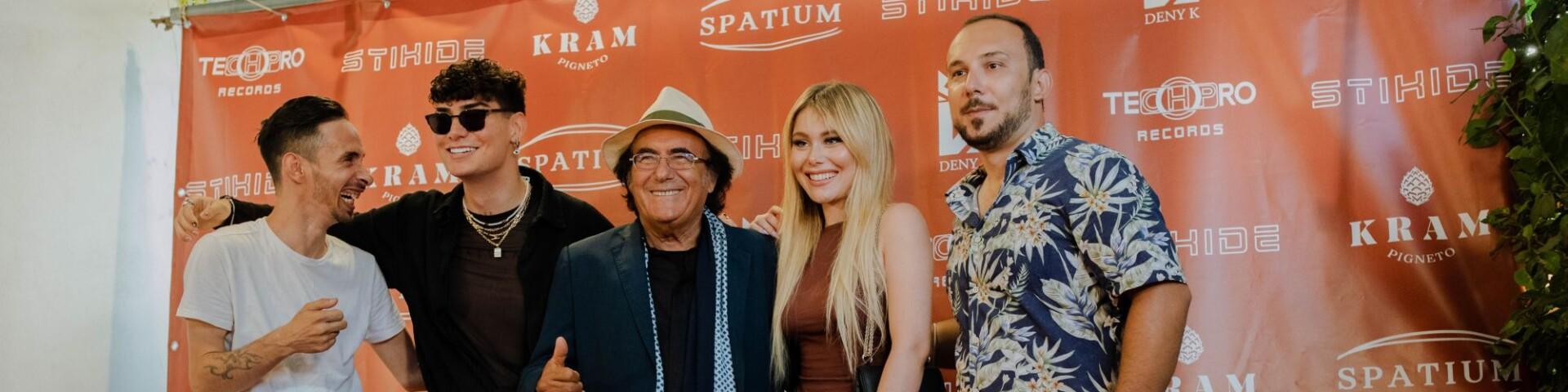 Festa al Kram con Albano per il nuovo singolo di Jasmine Carrisi e Deny K: foto e video interviste